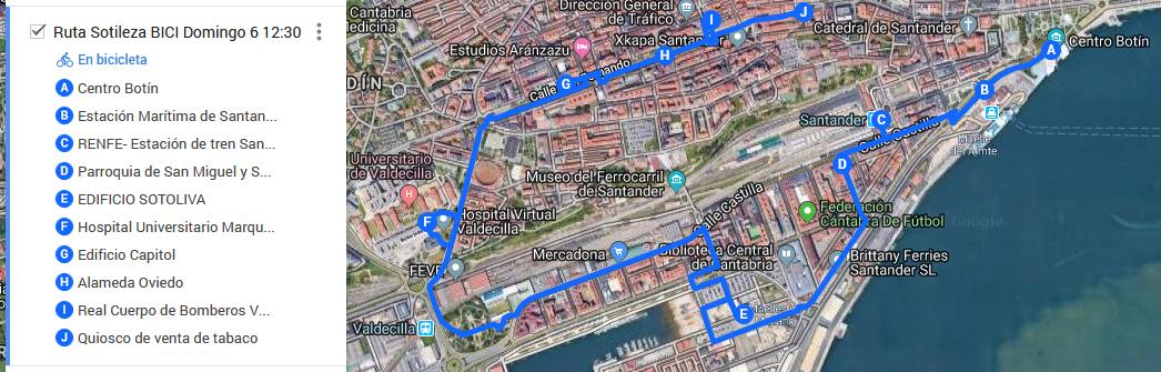ruta SOTILEZA III domingo